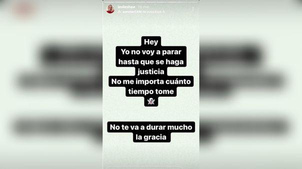 Este fue el mensaje que publicó Leslie Shaw en Instagram.