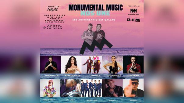 MONUMENTAL MUSIC NOS UNE: El 185 aniversario del Callao se celebra con la reunión de las voces de la música urbana y salsera