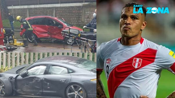 Paolo Guerrero sufrió accidente automovilístico