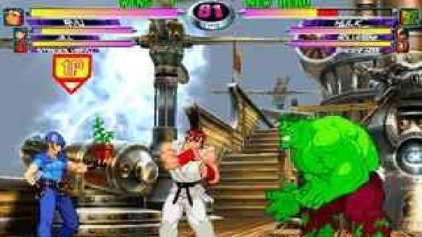 El popular videojuego reune a los mejores personajes de Capcom y Marvel