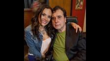 Connie Chaparro con su papá.