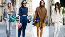 Vestir de un solo color. Contrastando tonalidades, para un outfit de lujo