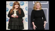 Adele: La cantante presentó su más reciente disco 25 con más de 30 kilogramos abajo y sigue perdiendo. Algunas fuentes dicen que la ganadora del Grammy sigue la dieta Sirtfood que busca quitar el apetito de forma natural y activar el gen delgado del cuerpo.