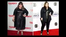Melissa McCarthy: La actriz pesaba 107 kilogramos, pero ahora la podemos ver con sólo 73. Ha perdido más de 30 en los últimos meses y está siguiendo una dieta baja en carbohidratos y un entrenamiento en intervalos de alta intensidad. Ella dice que ames tu cuerpo tal como es.