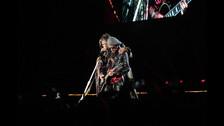 Steven Tyler y Joe Perry juntos en el escenario