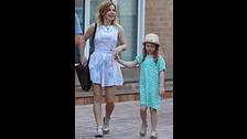 La ex Spice Girl Geri Halliwell y su hija.