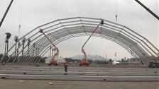 Las estructuras ya empezaron a desplegarse en Lima.