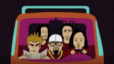 RADIOHEAD  Temporada 5. Episodio 1. Cartman logra que la banda favorita de su peor enemigo (Scott Tenorman) lo odie. Se trata de Radiohead.
