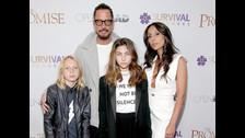 Chris Cornell, su esposa y sus hijos.
