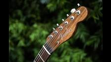 El cuerpo de la guitarra es mucho más ligero que la original de 1968