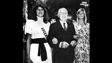 Belaunde era el presidente del Perú y recibió a las participantes del concurso Miss Universo ese año.