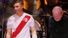 Nicholas Collins lució la camiseta peruana